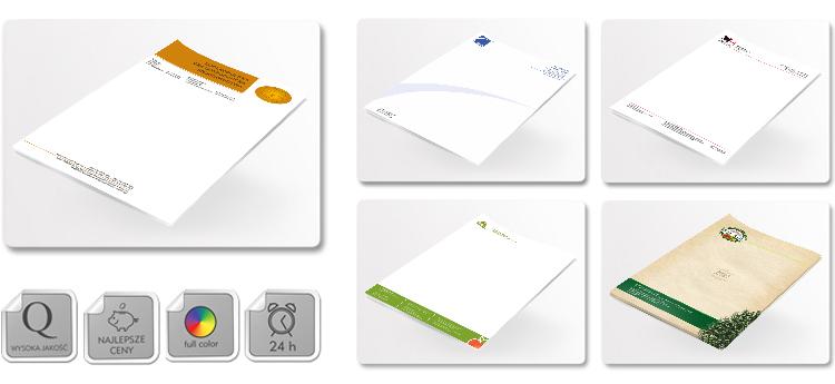 wydruk papieru firmowego
