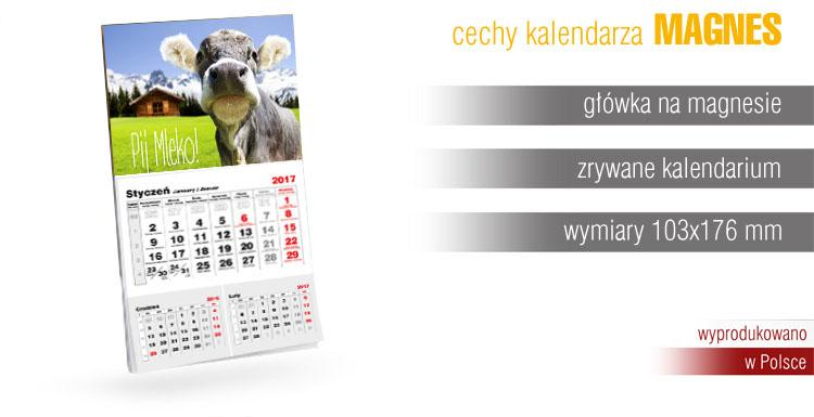 kalendarz na magnesie