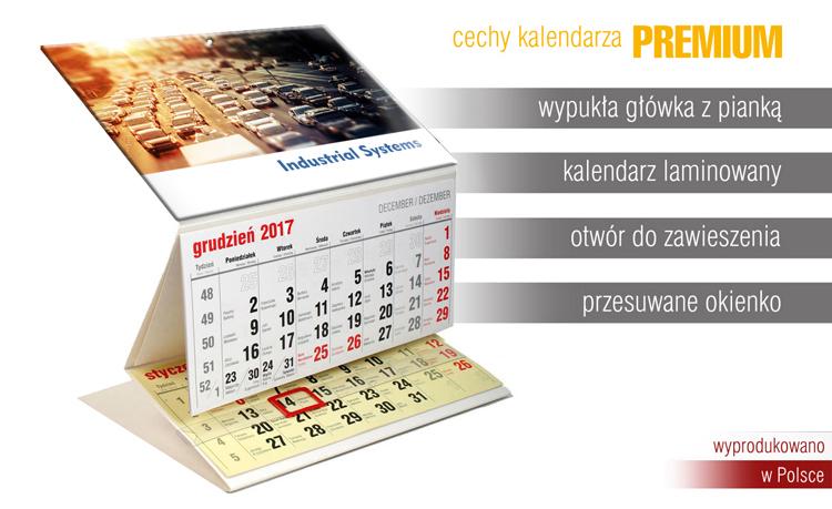 Kalendarze trójdzielne bez nadruku na plecach