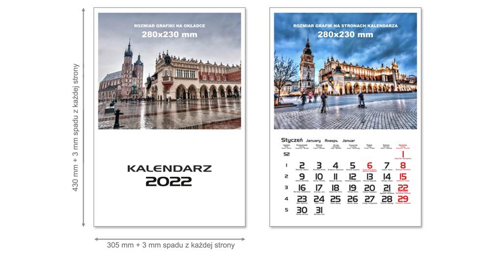 tanie kalendarze wieloplanszowe drukarnia Kraków