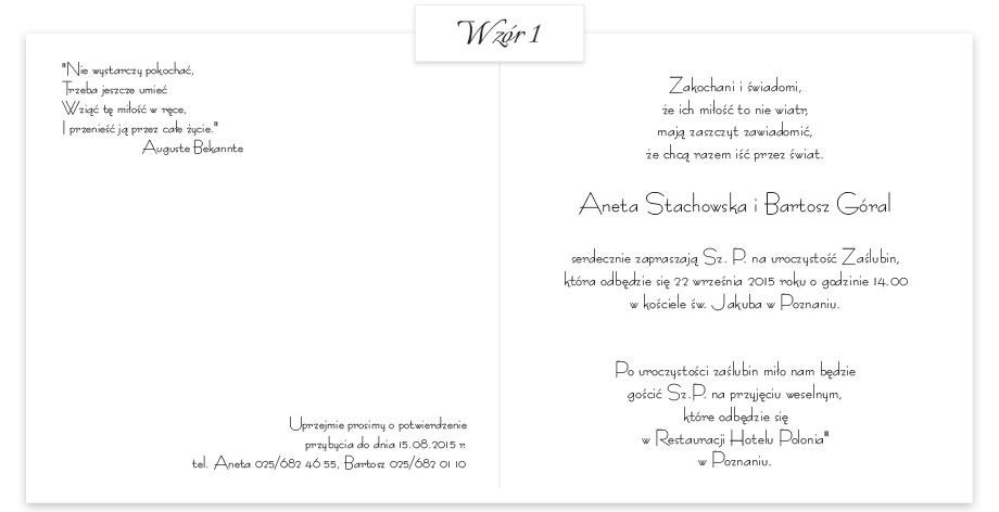 Zaproszenie Gold Art 02 Kolekcja Gold Art Extrema Zaproszenia