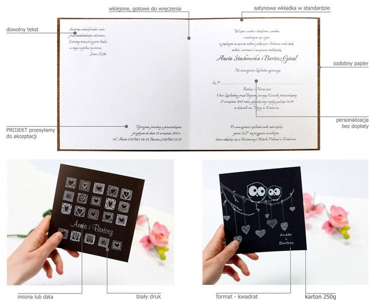 Cechy zaproszenia ślubnego z kolekcji whiteart