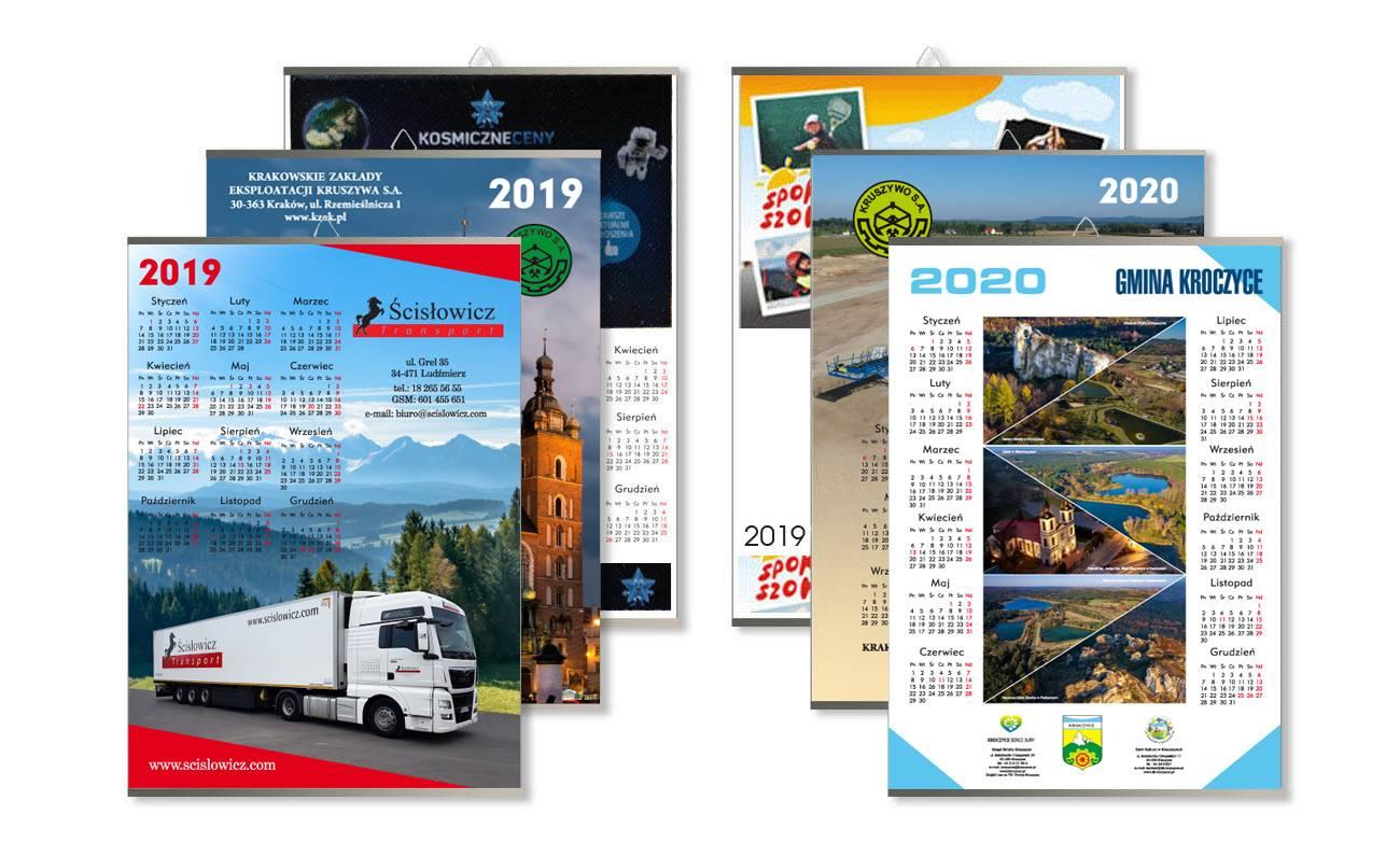Przykładowe kalendarze jednoplanszowe