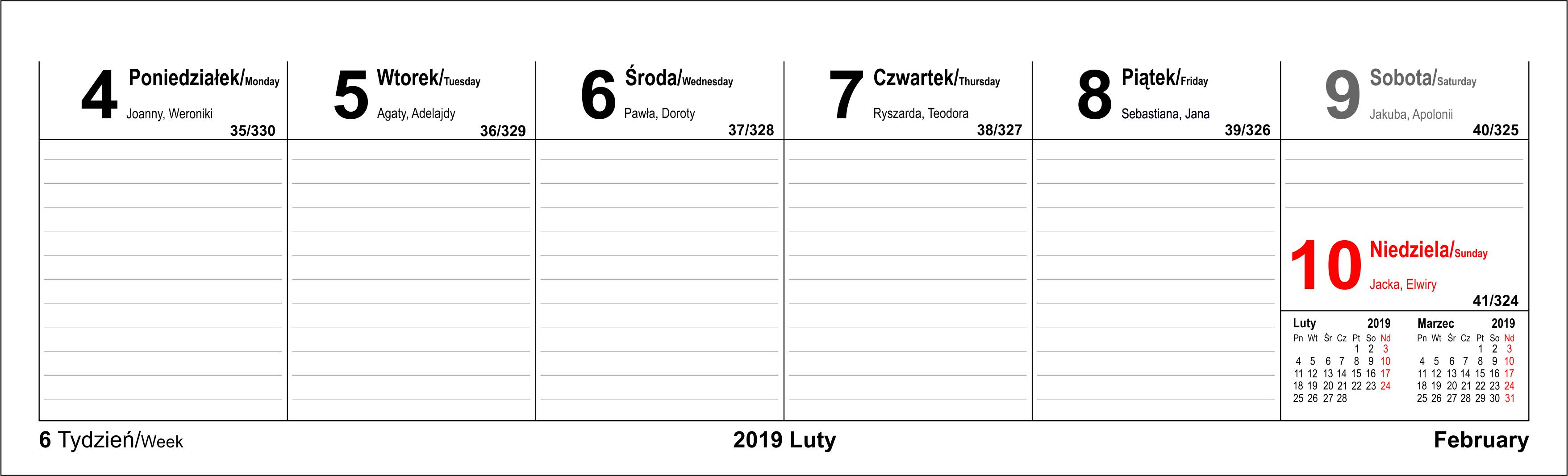 Kalendarze firmowe na biurko