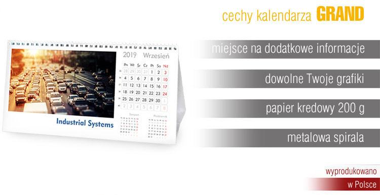 Kalendarze biurkowe miesięczne extrema