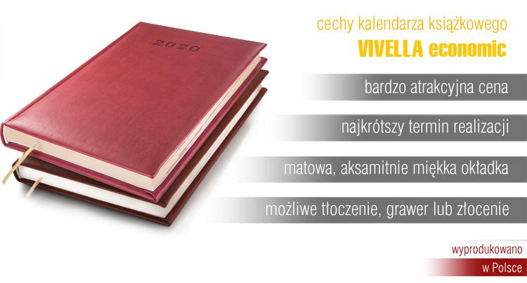 Kalendarze książkowe tłoczone logo, grawerowane