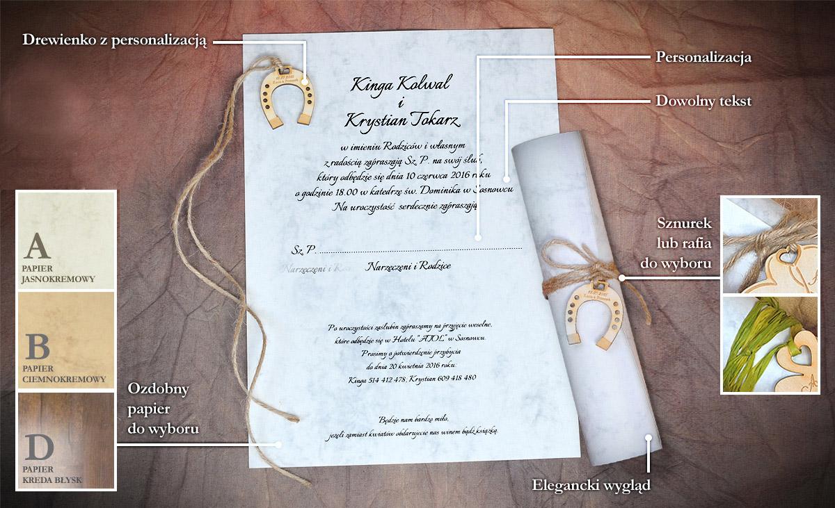 Zaproszenie Pawelus 18 Kolekcja Wood Art Extrema Zaproszenia